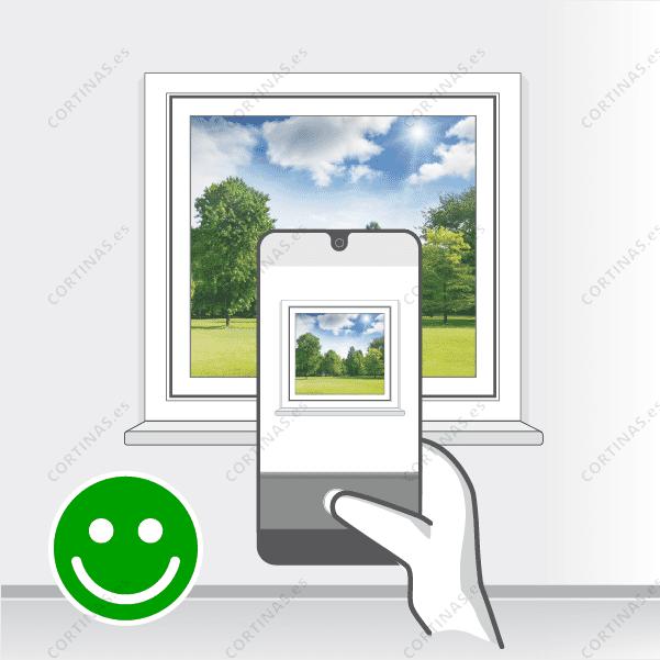 Correcto: la ventana se ve al completo en la fotografía