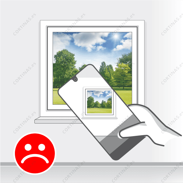 Incorrecto: La ventana no se ve completamente en la fotografía